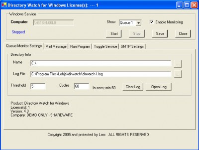 Directory Watch 4.0 screenshot