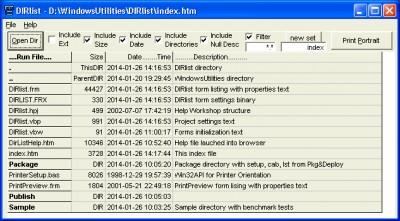 DIRlist 3.1.63 screenshot