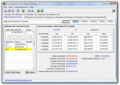 Discounted Cash Flow Analysis Calculator 2.1 screenshot