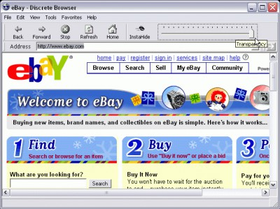 Discrete Browser 1.0 screenshot