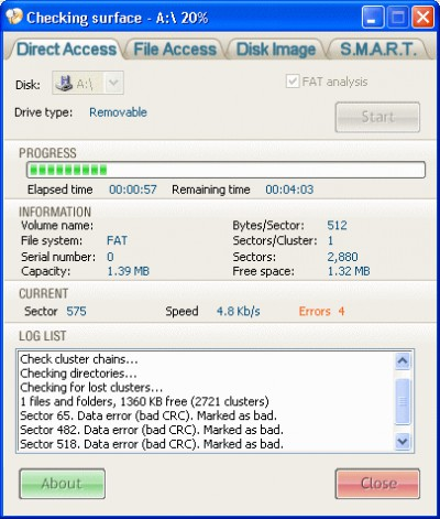 Disk Checker 3.3 screenshot