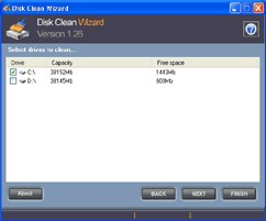 Disk Clean Wizard 1.30 screenshot