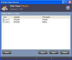 Disk Clean Wizard 1.30 screenshot