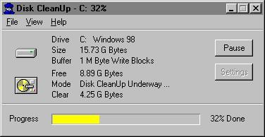 Disk CleanUp 2000 5.4 screenshot