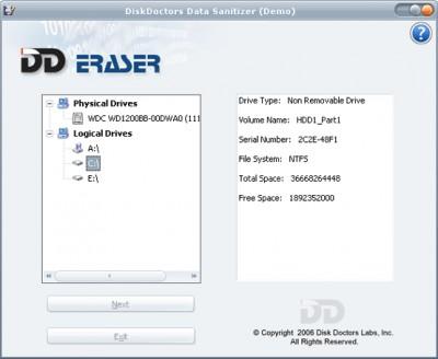 Disk Doctors Data Sanitizer 1.0 screenshot