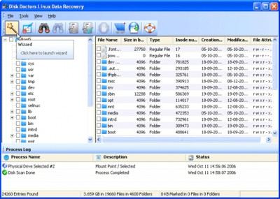 Disk Doctors Linux Data Recovery 1.0 screenshot