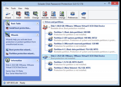 Disk Password Protection 5.5.1 screenshot