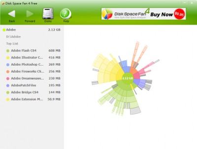 Disk Space Fan 4 Free 4.0.2.102 screenshot