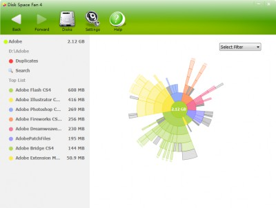 Disk Space Fan 4 4.5.4.152 screenshot