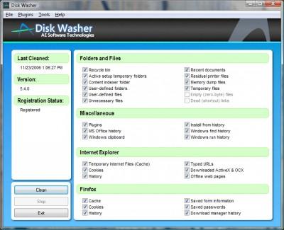 Disk Washer 6.0.2 screenshot