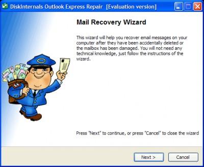 DiskInternals Outlook Express Repair 2.0 screenshot