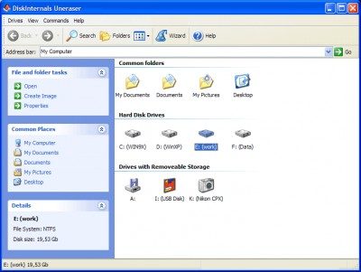 DiskInternals Uneraser 5.0 screenshot