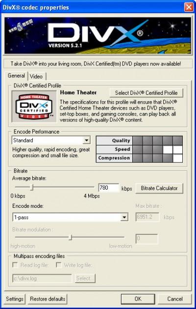 DivX Player (with DivX Codec) for 98/Me 5.2.1 screenshot