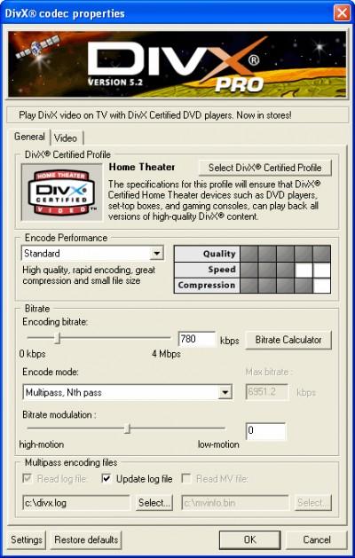 DivX Player with DivX Pro Codec (2K/XP) 5.2.1 screenshot