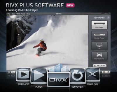 DivX Plus Software for Windows 8 screenshot