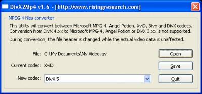 DivX2Mp4 1.7 screenshot