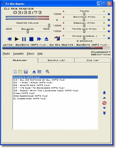 DJ Mix Master 2.8 screenshot