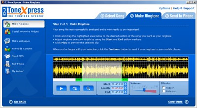 DJ ToneXpress The Ringtone Creator 4.7.4 screenshot