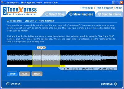 DJ ToneXpress 3.0 screenshot