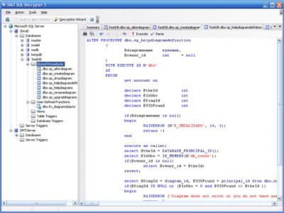 DMT SQL Decryptor 3.20 screenshot