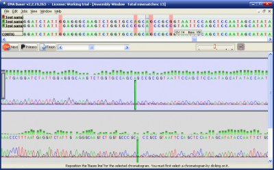 DNA BASER - sequence assembling tool 1.7.0 screenshot