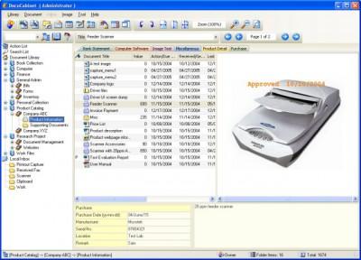 DocuCabinet 2.3.1 screenshot