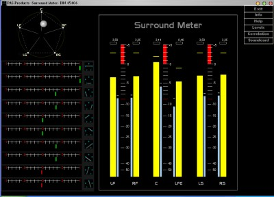 dolby surround meter 2006 screenshot