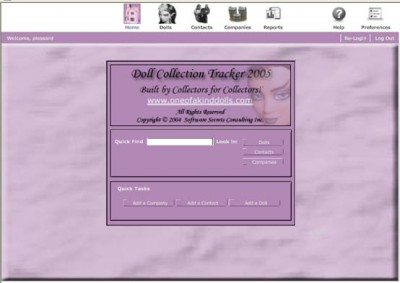 Doll Tracker 2005 2.1 screenshot