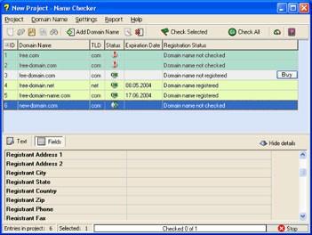 Domain Name Checker 2.1 screenshot