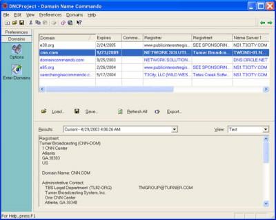 Domain Name Commando 1.0 screenshot
