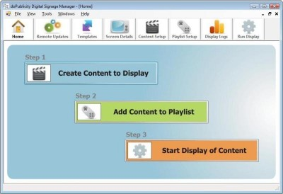 doPublicity Digital Signage Software 4.8 screenshot