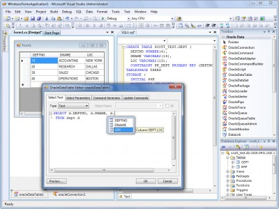 dotConnect Express for Oracle 8.5 screenshot