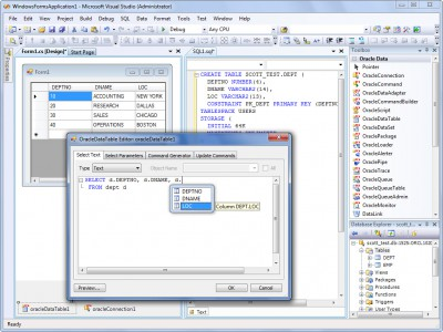 dotConnect for Oracle 9.8 screenshot