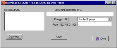 Download Leecher 0.1 screenshot