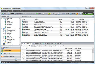 DownloadStudio 10.0.4.0 screenshot