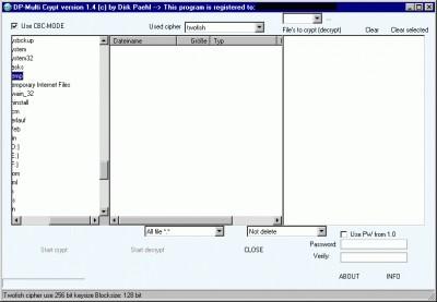 DP Multicrypt 2.0 screenshot