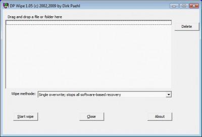 DP WIPER 1.1 screenshot