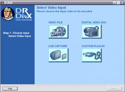 Dr. DivX (Three Step DivX Encoding App) 1.0.6 screenshot