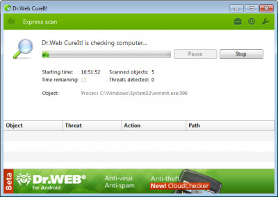 Dr.Web CureIt! 12.5.20201 screenshot