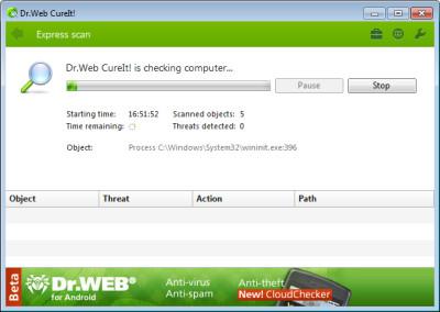 Dr.Web CureIt! 12.0.20190 screenshot