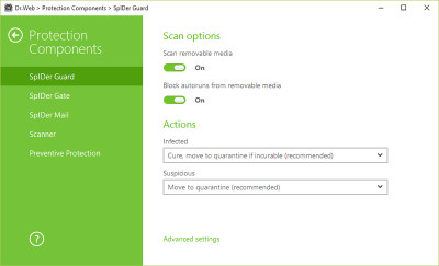 Dr.Web Security Space 12.0.2.724 screenshot