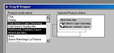 Drag-N-Dropper for MS Access 4.0 screenshot