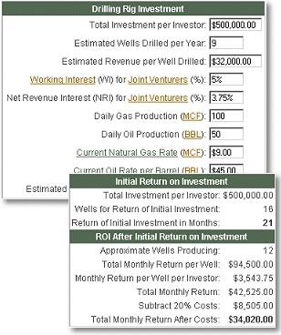 Drilling Rig Investment Calculator 2.2 screenshot