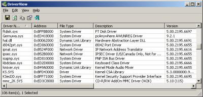 DriverView 1.47 screenshot