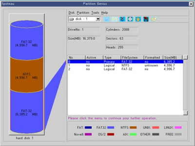 DSP PARTITION UTILITY 2011.1105 screenshot
