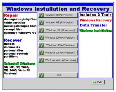 DSP WINDOWS RECOVERY 2011.1105 screenshot