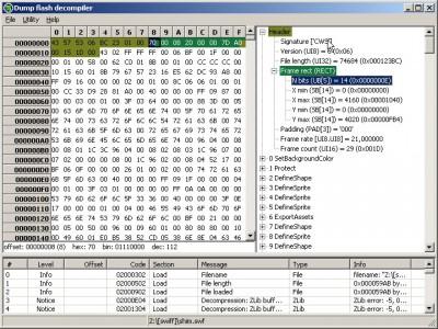 Dump Flash decompiler 1.0.0 screenshot