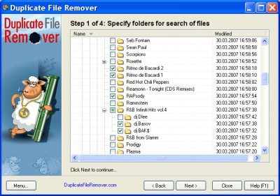 Duplicate File Remover 3.10 screenshot