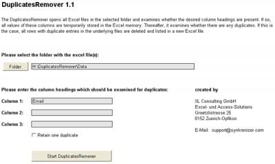 DuplicatesRemover 2.0 screenshot
