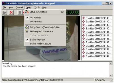 DV MPEG4 Maker 2.6.0 screenshot